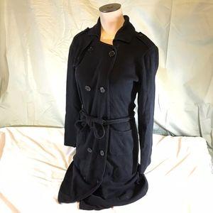 CAbi Trench Sweater Coat Jacket Size XS